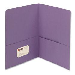 Smead Two-Pocket Folder, Textured Paper, Lavender, 25/Box