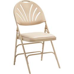 Samsonite XL Folding Chair, Vinyl, 19-1/4 in x 23-1/4 in x 36-1/4 in, 4/CT, NTL