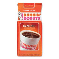 Dunkin' Donuts Original Blend Coffee, Hazelnut, 12 oz Bag