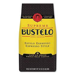 Cafe Bustelo Supreme Espresso-Style Whole Bean Coffee, Dark Roast, 2 lb Bag