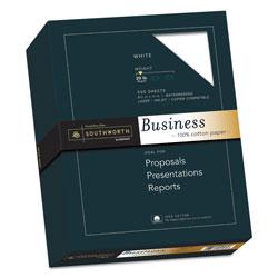 Southworth 100% Cotton Business Paper, 95 Bright, 20 lb, 8.5 x 11, White, 500/Ream