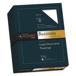 Southworth 25% Cotton Business Paper, 95 Bright, 20 lb, 8.5 x 11, White, 500/Ream