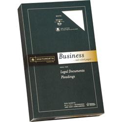 "Southworth Fine Business Paper, 20 lb., Legal Ruled, 8-1/2""x14"", 500/Box, WE"