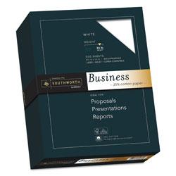 Southworth 25% Cotton Business Paper, 95 Bright, 24 lb, 8.5 x 11, White, 500/Ream
