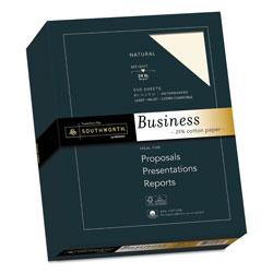 Southworth 25% Cotton Business Paper, 24 lb, 8.5 x 11, Natural, 500/Ream