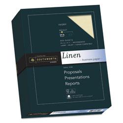 Southworth 25% Cotton Linen Business Paper, 24 lb, 8.5 x 11, Ivory, 500/Ream