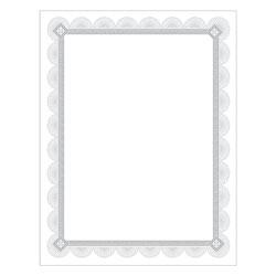 Southworth Premium Certificates, White, Spiro Silver Foil Border, 66 lb, 8,5 x 11, 15/Pack