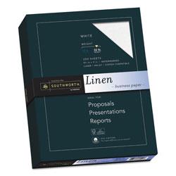Southworth 25% Cotton Linen Business Paper, 32 lb, 8.5 x 11, White, 250/Pack