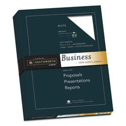 Southworth 100% Cotton Business Paper, 95 Bright, 32 lb, 8.5 x 11, White, 250/Pack