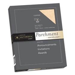 Southworth Parchment Specialty Paper, 24 lb, 8.5 x 11, Copper, 100/Pack