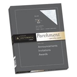Southworth Parchment Specialty Paper, 24 lb, 8.5 x 11, Blue, 100/Pack