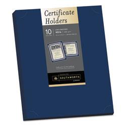 Southworth Certificate Holder, Navy, 105lb Linen Stock, 12 x 9 1/2, 10/Pack
