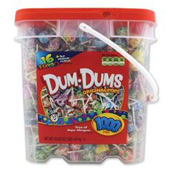 Spangler Candy Dum-Dum-Pops, Assorted, 172 oz Bucket, 1000 Count