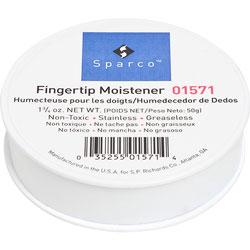 Sparco Sortkwik Fingertip Moistener, Nonskid Back, 1 3/4 Oz.