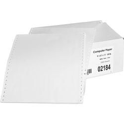 """Sparco Continuous Feed Paper, 20 lb., Plain, 1 Part, 9-1/2""""x11"""", White"""