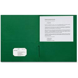 Sparco 2-Pocket Portfolio, 25/BX, Green