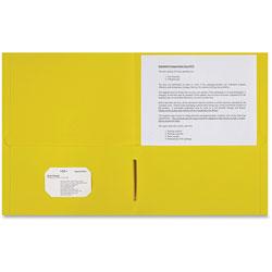 Sparco 2-Pocket Portfolio, 25/BX, Yellow