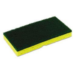 Disco Medium-Duty Scrubber Sponge, 3 1/8 x 6 1/4 in, Yellow/Green, 5/PK, 8 PK/CT