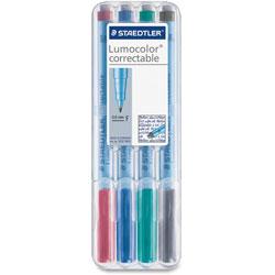 Staedtler Correctable Marker Pen, .6mm, Non-Permanent, Ast