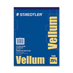 Staedtler Vellum Pad, 16 lb., 50 Sheets, 8-1/2 inx11 in