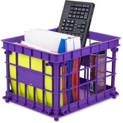Storex Standard Crate, 14-1/4 in x 17-1/4 in x 11 in