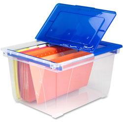 Storex Nesting File Tote, Heavy-Duty, Letter/Lgl, 15-3/5 in x 19-1/4 in x 10 in, CLBE
