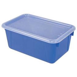 Storex Cubby Bins, 12.25 x 7.75 x 5.13, Blue, 6/PK