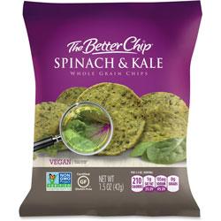 Sugar Foods Spinach/Kale Whole Grain Chips, 1.5oz., 27BG/CT, PE