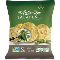 Sugar Foods Jalepeno Whole Grain Chips, 1.5oz., 27BG/CT, Green