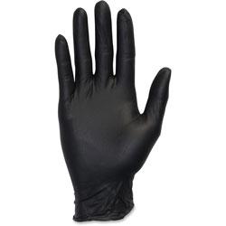The Safety Zone Nitrile Exam Gloves, Medium, 4 Mil, Black