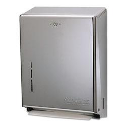 San Jamar C-Fold/Multifold Towel Dispenser, Stainless Steel, 11 3/8 x 4 x 14 3/4