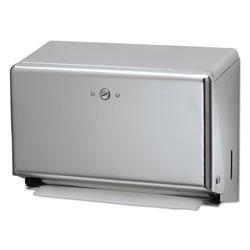 San Jamar Mini C-Fold/Multifold Towel Dispenser, Chrome, 11 1/8 x 3 7/8 x 7 7/8