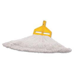 Rubbermaid Finish Mop Heads, Nylon, White, Large