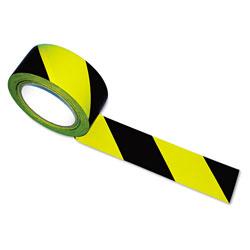 Tatco Hazard Marking Aisle Tape, 2w x 108ft Roll
