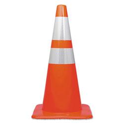 Tatco Traffic Cone, 28h x 14w x 14d, Orange/Silver