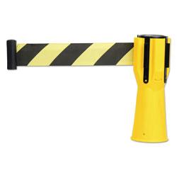 Tatco Safety Cone Topper Belt, 3 1/2 in x 9 ft, Yellow/Black, Plastic/Nylon
