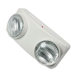 Tatco Swivel Head Twin Beam Emergency Lighting Unit, 12.75 inw x 4 ind x 5.5 inh, White