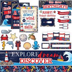 Teacher Created Resources Bulletin Board Set w/Pockets, Nautical, 62/ST