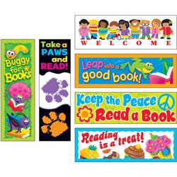 Trend Enterprises Bookmark Variety Pack, 6 Designs, Multi
