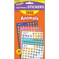 Trend Enterprises Stickers, Animals, Variety Pack, 2500 EA/PK, MI