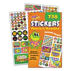 Trend Enterprises Sticker Assortment Pack, Praise/Reward, 738 Stickers/Pad