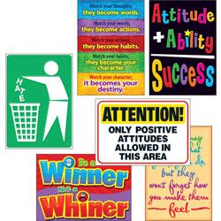 Trend Enterprises Attitude Matters Poster Set, 13-2/5 in x 19 in, 6/PK