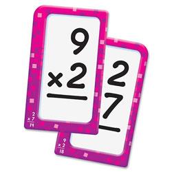 Trend Enterprises Multiplication Flash Cards, 3-1/8 in x 5-1/4 in, 56CDs, Multi