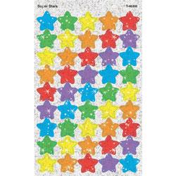 Trend Enterprises Super Stars Sparkle Stickers, 180CT, Assorted