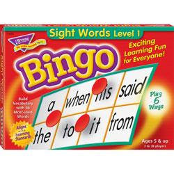 Trend Enterprises Games, Bingo/Sightwords, 46 Practice Words