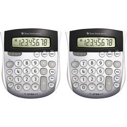 Texas Instruments Calculators, TI-1795, Mini, Dual Power, 4-7/8 in x 5-2/3 in x 1 in, 2/BD, Solar