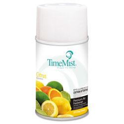 Timemist Premium Metered Air Freshener Refill, Citrus, 6.6 oz Aerosol, 12/Carton