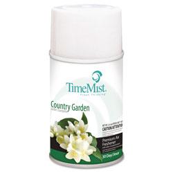 Timemist Premium Metered Air Freshener Refill, Country Garden, 6.6 oz Aerosol, 12/Carton