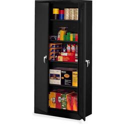 Tennsco Storage Cabinets, Deluxe, 36 inWx24 inDx78 inH, Black