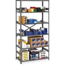 Tennsco Commercial Steel Shelves, 36 in x 18 in, Gray